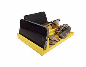 3D print model Bedside Utility Tray right-sided Enhanced