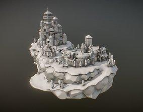 miniatures Medieval Village With Castle 3D print model