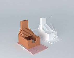 3D model back yard bbq