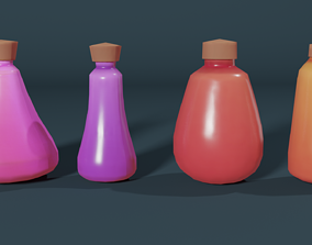 Stylized Bottle Pack 3D model
