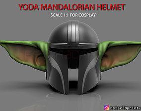 3D print model Yoda Mandalorian Helmet - Star Wars