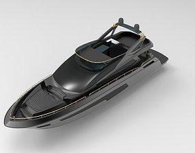 luxury Yatch 3D asset