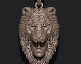 3D printable model Man bear pendant