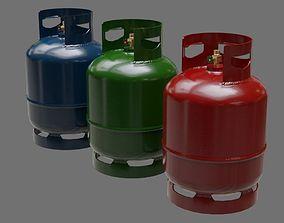 3D asset Gas Cylinder 1A