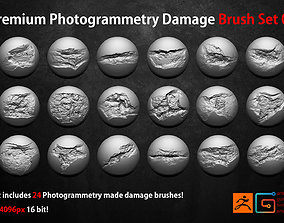 Photogrammetry Wall Damages Brushes and Alphas Volume 3D