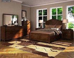 Ashley Ashlyn Sleigh Bedroom Set 3D asset