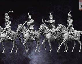 3D print model 28mm Napoleonic Mamluk Cavalry
