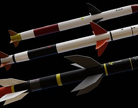 Missile pack 3 models complete textures and VR / AR ready