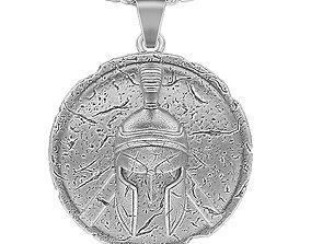 3D print model spartan pendant