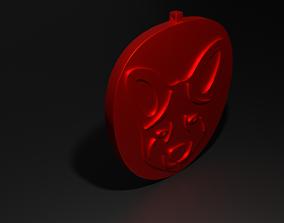 Fox Head Pendant 3D printable model