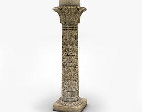 3D model Ancient Egyptian column