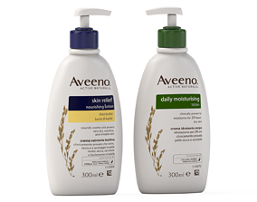 3D Aveeno Active Naturals Lotion bottle
