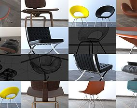 Chair Collection 3D model PBR