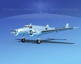 Lockheed L10 Electra Daily Express 1 3D model