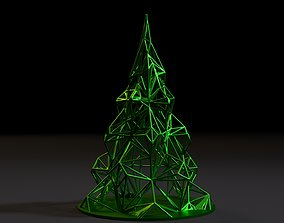 3D print model Christmas tree Voronoi Christmas