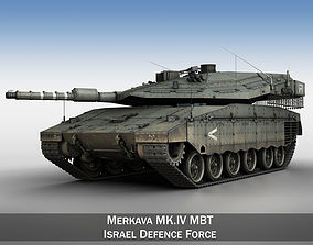 3D Merkava IV - Israel Defense Forces