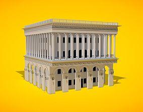 arcade 3D European Historical Building Architecture