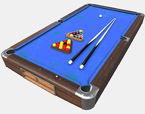 Low Poly PBR Pool Table 3D model