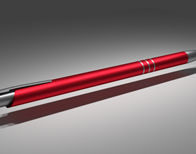 Pen red 3D asset