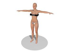 character eye Female 3D model
