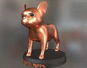 Bulldog Puppy 3D printable model exhibit