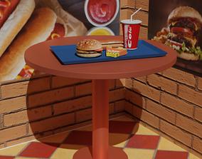 fast food 3D model