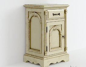 Victorian Bedside Old White 3D