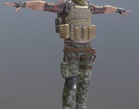 3D model Rigged Mercenary A