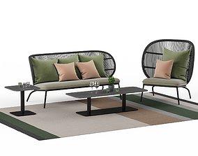 3D model Kodo outdoor lounge