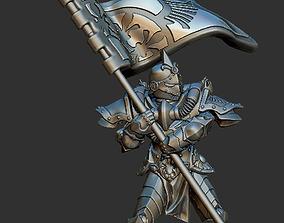 Banner battle nun angel 28mm compatible 3D print model