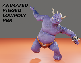 animated OGRE LOWPOLY GAME READY 3D CHARACTER