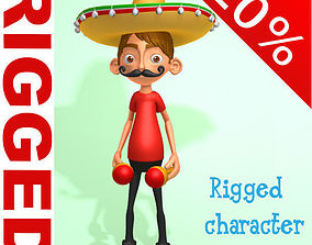 3D Mexican boy Cartoon Rigged