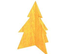 3D asset Wooden Christmas Trees v1 005