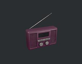 3D model Purple Portable Radio