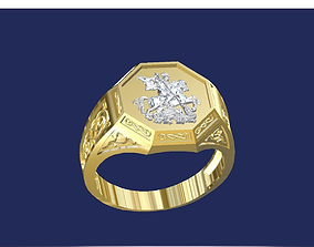 Saint George ring 3D print model