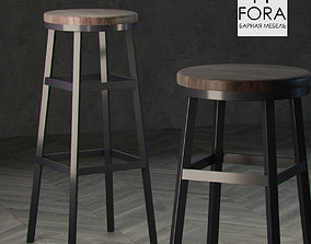 Fora furniture stool 3D model