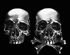 3D model skull earrings studs 2 3dprint cufflinkskull