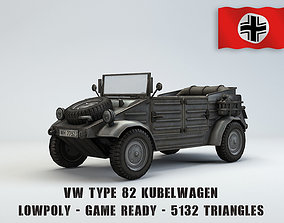 3D model realtime Low Poly VW Type 82 Kubelwagen