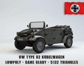 3D model realtime Low Poly VW Type 82 Kubelwagen