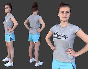 Sports Girl 3D model VR / AR ready