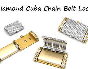 Diamond Cuban Chain Belt 3D printable model