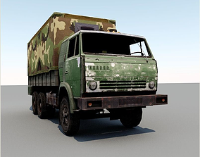 3D asset truck low poly for game