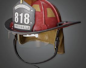 HAT - Firefighter Helmet - PBR Game Ready 3D asset