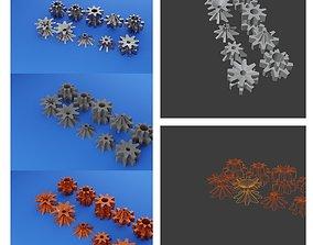 3D Ten kinds of eight gear wheels of different