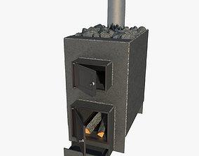 3D model Homemade metal sauna stove