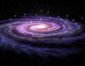 nebula Spiral Galaxy in deep space 3D model