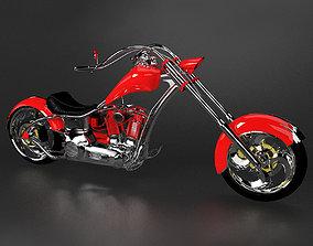 3D Chopper Motorcycle