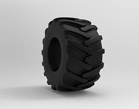 Tractor Tire - Tire 1 3D model