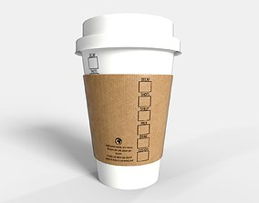 PBR Coffee Cup - Standard 3D model low-poly