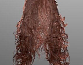 3D model VR / AR ready Woman hairstyle